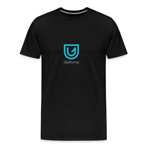 UpRamp Logo Blue Stacked ColorWhite - Men's Premium T-Shirt