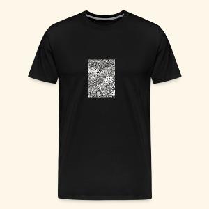 Black and white tigerprint - Men's Premium T-Shirt