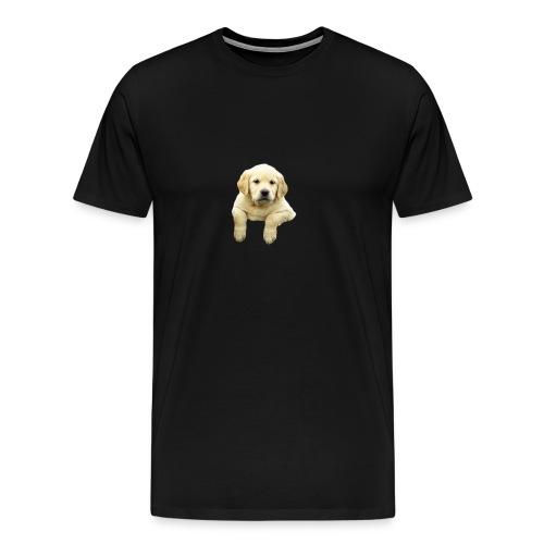 Labrador puppy climbing - Men's Premium T-Shirt