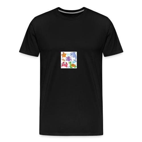animales animados - Men's Premium T-Shirt