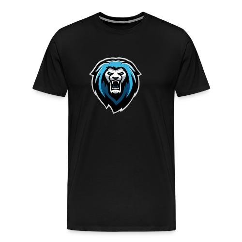 New NvarPlayzGamez Branding!! Cool Animated Lion - Men's Premium T-Shirt