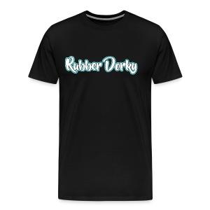 Rubber Dorky - Logo (name) - Men's Premium T-Shirt