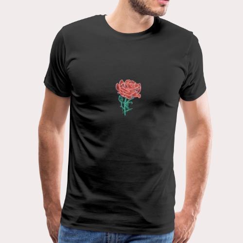 Retro Rose By ConqueringLife - Men's Premium T-Shirt