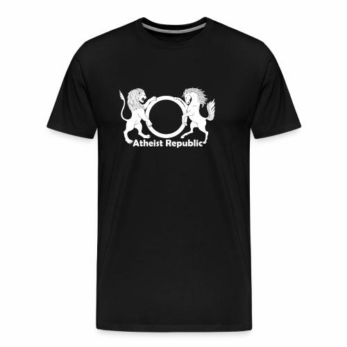 Atheist Republic Logo - White - Men's Premium T-Shirt
