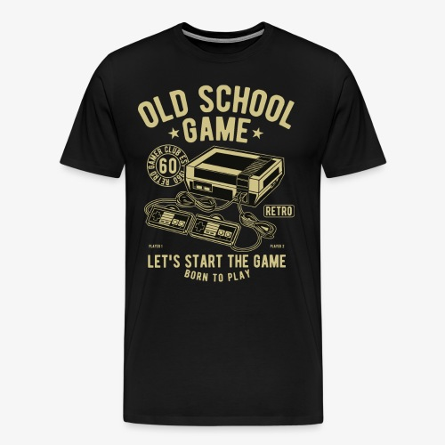 Old School Game - Men's Premium T-Shirt