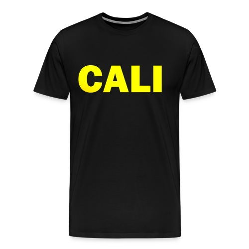 PLACE AND TIME CALI YELLOW - Men's Premium T-Shirt