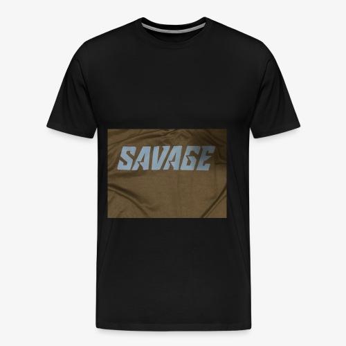 Black and blue savage merch - Men's Premium T-Shirt