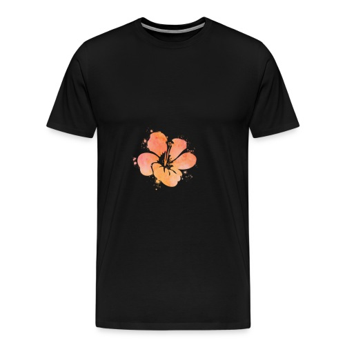 Hibiscus Watercolor Design - Men's Premium T-Shirt