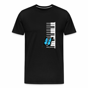 White piano with butterfly - Men's Premium T-Shirt
