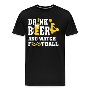 Football and beer - Men's Premium T-Shirt