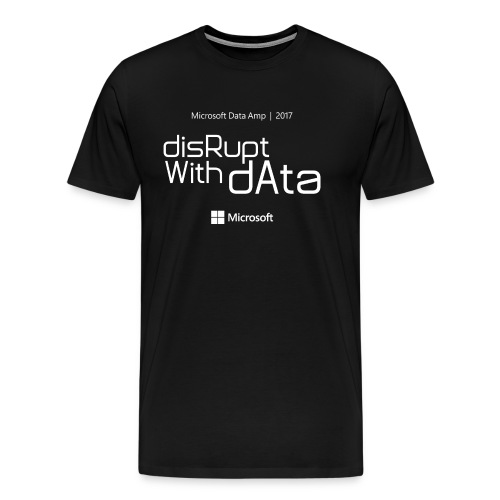 Disrupt with Data white on black or grey blue - Men's Premium T-Shirt
