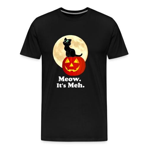 Black Cat Pumpkin Funny Halloween Gifts Ideas - Men's Premium T-Shirt