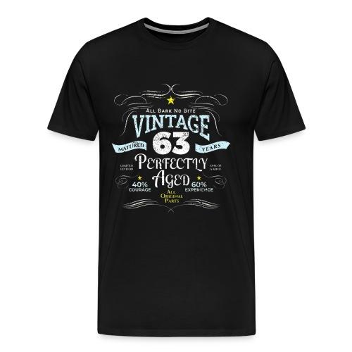Funny Vintage 63rd Birthday Gift - Men's Premium T-Shirt
