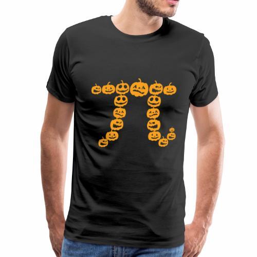 Pumpkin Pi Math Shirt Halloween Thanksgiving Pie - Men's Premium T-Shirt