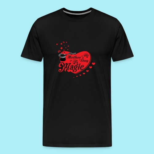 African American Mother's Day Magic (Red Rose) - Men's Premium T-Shirt