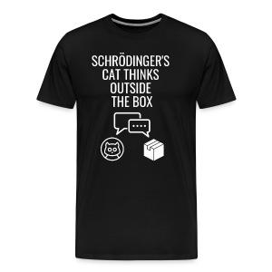 Schrodingers Cat Thinks Outside the Box - Men's Premium T-Shirt
