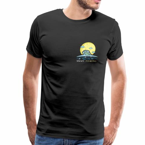 moon fishing fish fisherman angler sailor night - Men's Premium T-Shirt