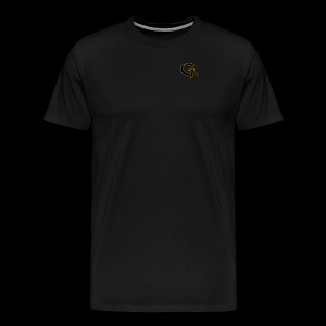 Black G with Gold Edges - Men's Premium T-Shirt