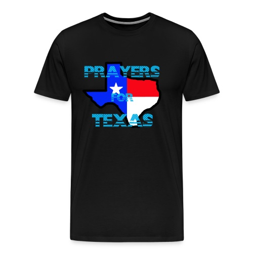 Prayers For Texas Flipped Coloring - Men's Premium T-Shirt