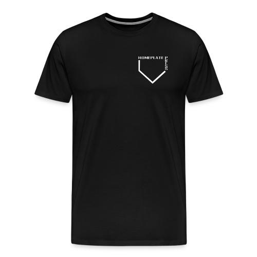 HOMEPLATE PRESS WHITE LOGO - Men's Premium T-Shirt