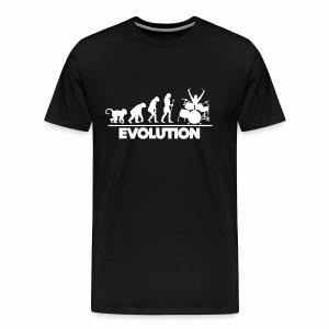 Evolution Of The Drummer - Men's Premium T-Shirt