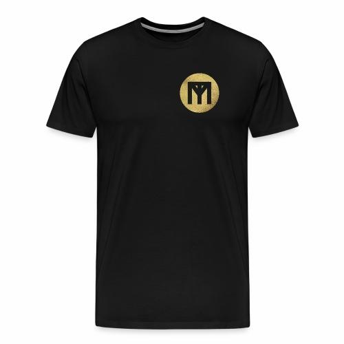 Trend Monster Gold Circle LOGO - Men's Premium T-Shirt