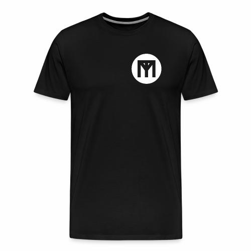 Trend Monster White Circle LOGO - Men's Premium T-Shirt