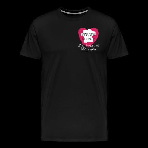 The Heart Of Montana - Men's Premium T-Shirt