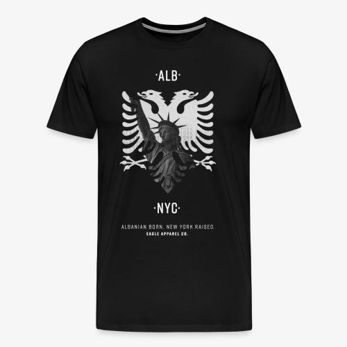 Albanian Born + New (White) - Men's Premium T-Shirt