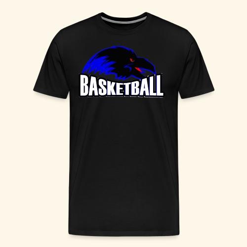 Ravens Logo w/ Basketball worded under logo - Men's Premium T-Shirt