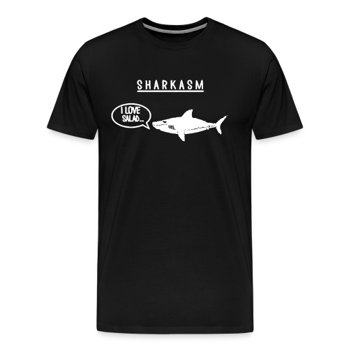 Sharkasm I Love Salad Shark 1 - Men's Premium T-Shirt