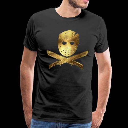 Scary Jason Golden Mask - Men's Premium T-Shirt