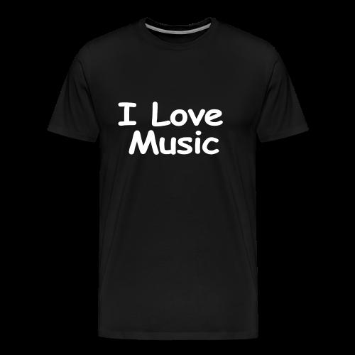 I Love Music-white Design - Men's Premium T-Shirt