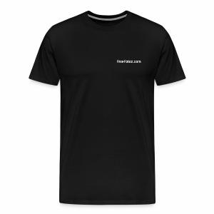 FreeFotoz.com in white - Men's Premium T-Shirt