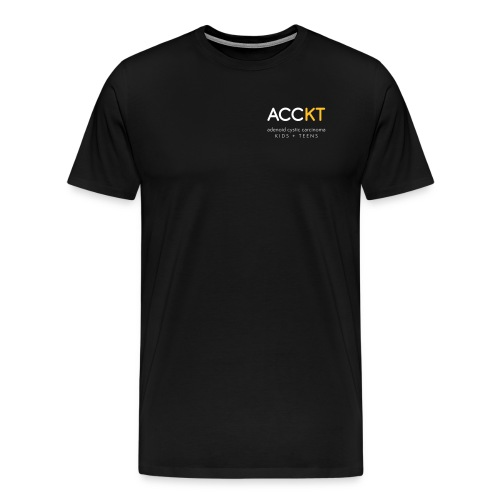 ACCKT - White Logo - Men's Premium T-Shirt