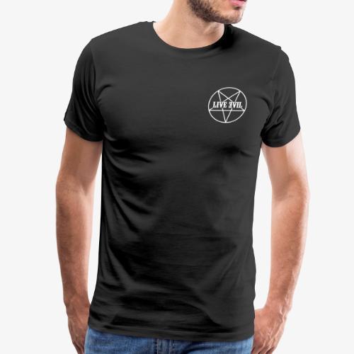 Live Evil OG Logo (White) - Men's Premium T-Shirt