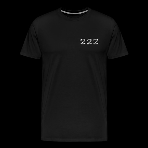 222 Chalk Style Pocket Logo - Men's Premium T-Shirt