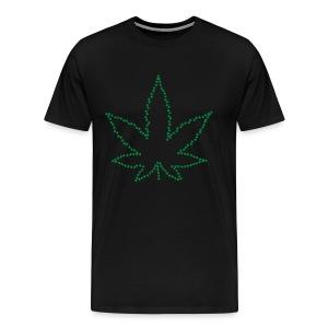 Marijuana Peace Love California Love 420 Freedom - Men's Premium T-Shirt