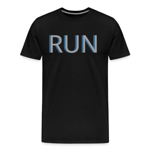 RUN Block Letters Mens Shirt - Men's Premium T-Shirt