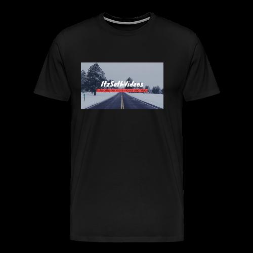 itzseth background - Men's Premium T-Shirt