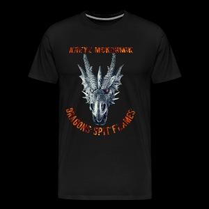 Dragon Spit Flames - Men's Premium T-Shirt