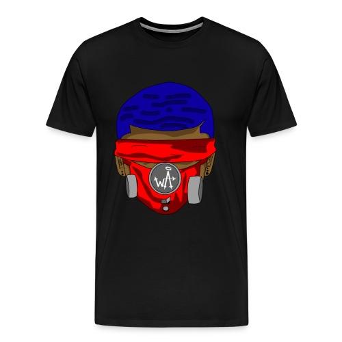 Blue Top - Red Masks - Men's Premium T-Shirt