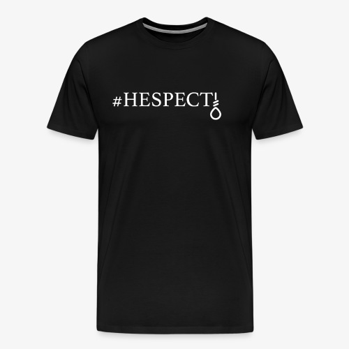 HESPECT - (White) - Men's Premium T-Shirt