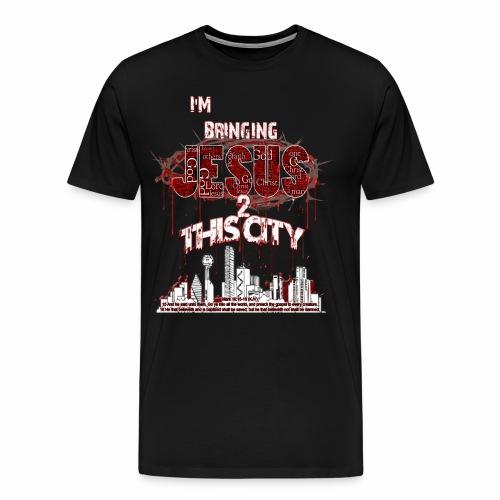 JESUS2thacity Black - Men's Premium T-Shirt