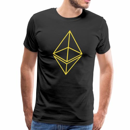 Ethereum Yellow Logo - Men's Premium T-Shirt