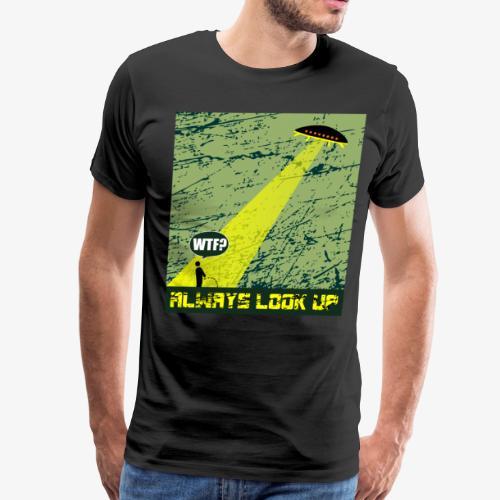 Ufo Abduction WTF T-Shirt - Men's Premium T-Shirt
