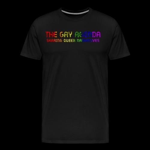 The Gay Agenda - Rainbow Paint Logo - Men's Premium T-Shirt