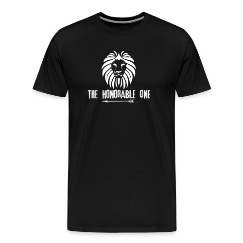 Lion: The Honorable One (White) - Men's Premium T-Shirt