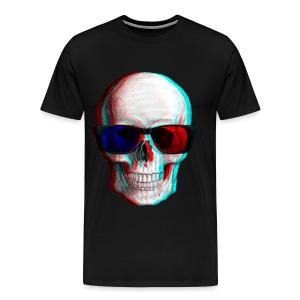 3D Glasses skull - Men's Premium T-Shirt