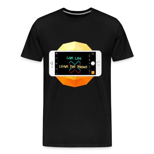 Live life leave the phone - Men's Premium T-Shirt